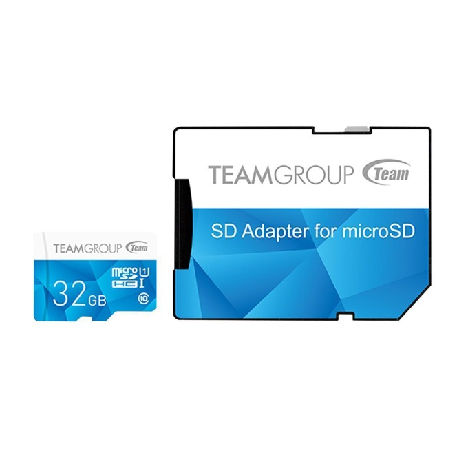 32GB microSDXC Team Group Color с адаптер, Class 10 UHS-I, скорост на четене 80 MB/s, скорост на запис 20 MB/s image