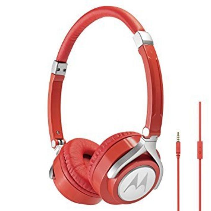 Слушалки Motorola Pulse Max, 3.5 мм жак, червени image