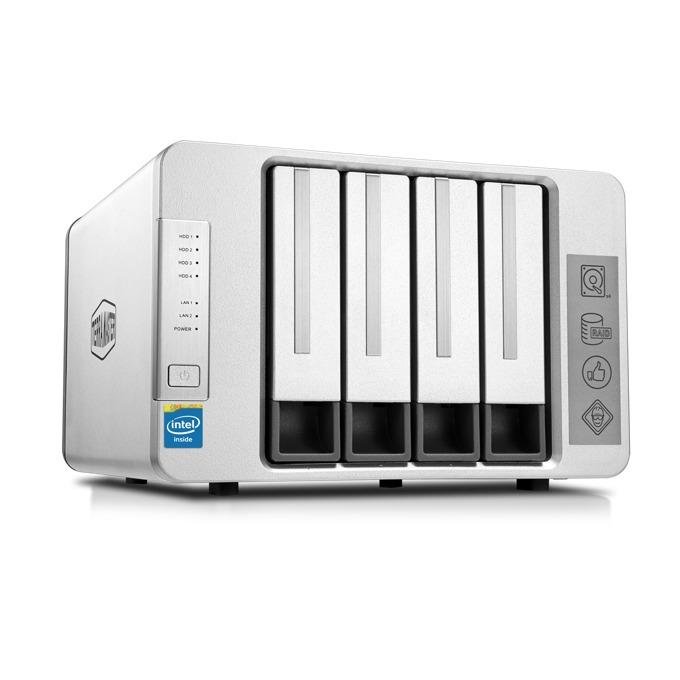 TerraMaster F4-220 (F4-220/2X4TB), двуядрен Intel Celeron J1800 2.41GHz/2.58GHz, 2 GB RAM, 2x 4TB Seagate NAS HDD, 1x RJ-45, USB 3.0, USB 2.0, Tower image