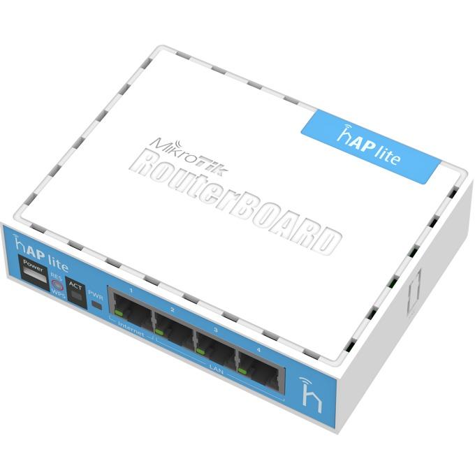 Точка за достъп Mikrotik RB941-2nD-Classic hAP lite, 2.4 GHz (300 Mbps), 4 x 10/100 Ethernet Ports, 2 вътрешни антени image
