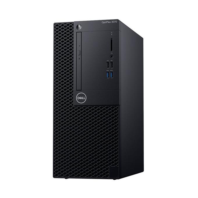 Настолен компютър Dell OptiPlex 3070 MT (DTO3070MTI34G1TU_UBU-14), четириядрен Coffee Lake Intel Core i3-9100 3.6/4.2 GHz, 4GB DDR4, 1TB HDD, 4x USB 3.1, клавиатура и мишка, Linux Ubuntu image