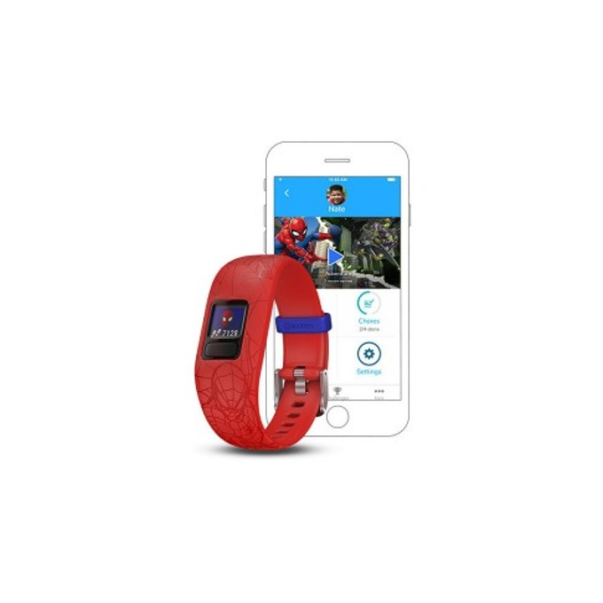 Смарт гривна Garmin vívofit® jr. 2, активити тракер за деца, 88x88 pix. дисплей, Bluetooth, водоустойчива, червен(Spider-Man) image