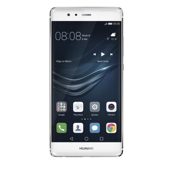 """Huawei P9 (сребрист), поддържа 2 sim карти, 5.2"""" (13.21 cm) IPS-NEO дисплей, осемядрен (четириядрен Cortex-A72 2.5 GHz & четириядрен Cortex-A53 1.8 GHz), 3GB RAM, 32GB Flash памет (+microSD слот), 12.0 & 8.0 Mpix camera, Android, двойна камера, 144g image"""