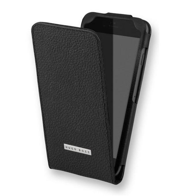 Калъф за iPhone 6, Flip Cover, кожен, HUGO BOSS Reflex, луксозен, черен image