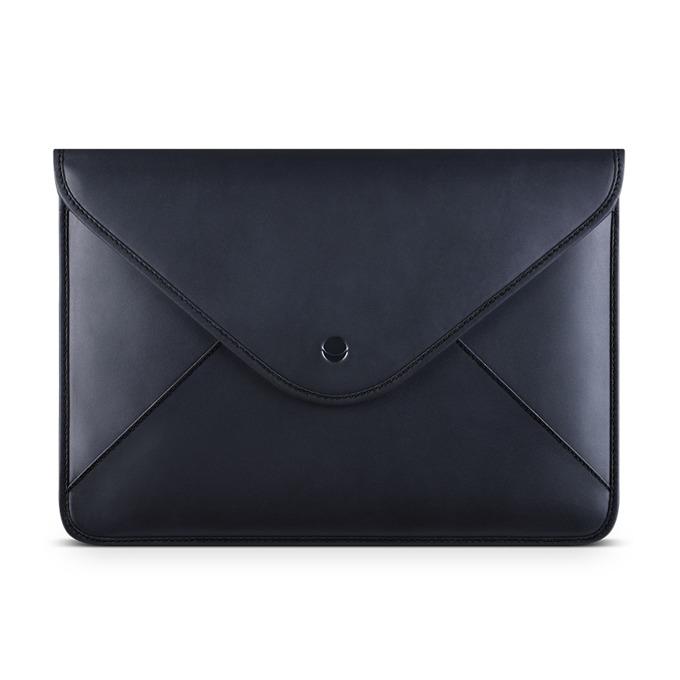 "Калъф за лаптоп Apple MacBook 12"" (30.48 cm), Beyza Thinvelope, кожен, черен image"