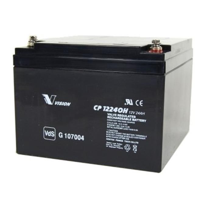 Акумулаторна батерия Vision CP12240, 12V, 24Ah, AGM image