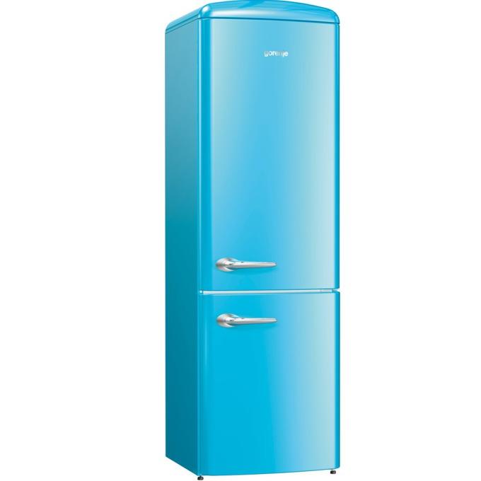 Хладилник с фризер GORENJE ORK 192 BL, клас A++, 326 л. общ обем, свободностоящ, 234 kWh/годишно, AdaptTech, CrispZone, XXL SpaceBox, FreshZone, син image