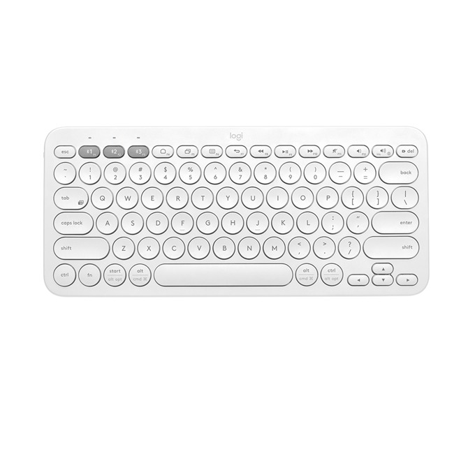 Клавиатура Logitech K380 (разопакован продукт), безжична, компактна, нисък профил, бяла, Bluetooth, UK English  image