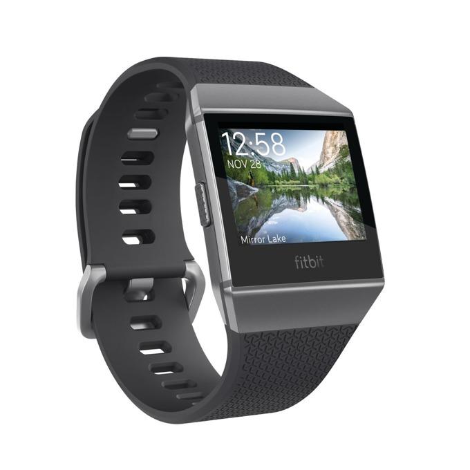 Смарт часовник Fitbit Ionic, цветен сензорен дисплей, GPS, Bluetooth 4.0, до 10 часа време за работа, водоустойчив, тъмносив image