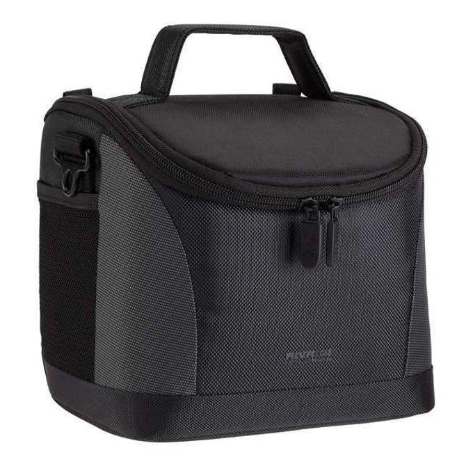 Чанта за фотоапарат Rivacase 7228 за SLR/DSLR фотоапарати, полиестер, сиво-черна image