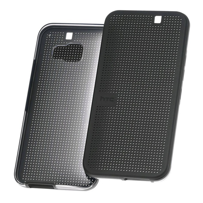 Калъф за за HTC One (M9), Поликарбонатов протектор, пластмаса, HTC Case Dot Flip HC M232, черен image
