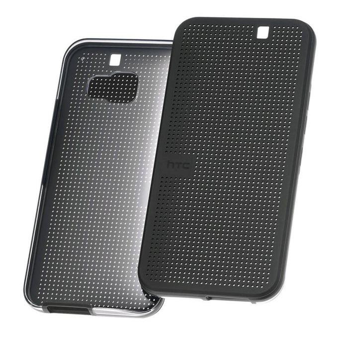 Калъф за за HTC One (M9), Поликарбонатов протектор, пластмаса, HTC Case Dot Flip HC M232, черен image