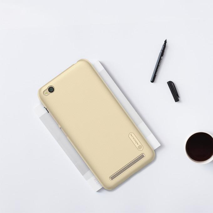 Калъф за Xiaomi Redmi 5A, страничен протектор с гръб, пластмасов, Nillkin Redmi 5A, златист image