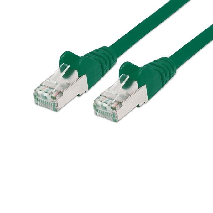 Пач кабел Intellinet 738972, SFTP, Cat.5e, 0.25м, зелен image