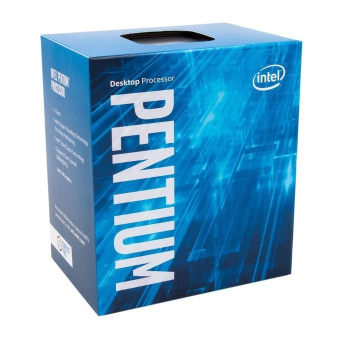 Процесор Intel Pentium G4560 двуядрен (3.5GHz, 3MB Cache, 350MHz-1.05GHz GPU, LGA1151) BOX, с охлаждане image