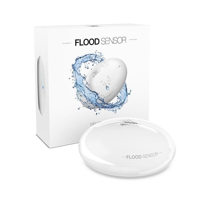 Датчик за вода Fibaro Flood Sensor, засича наводнения, датчик за наклон, външен/вътрешен обхват 50/30м, Z-Wave стандарт на работа image