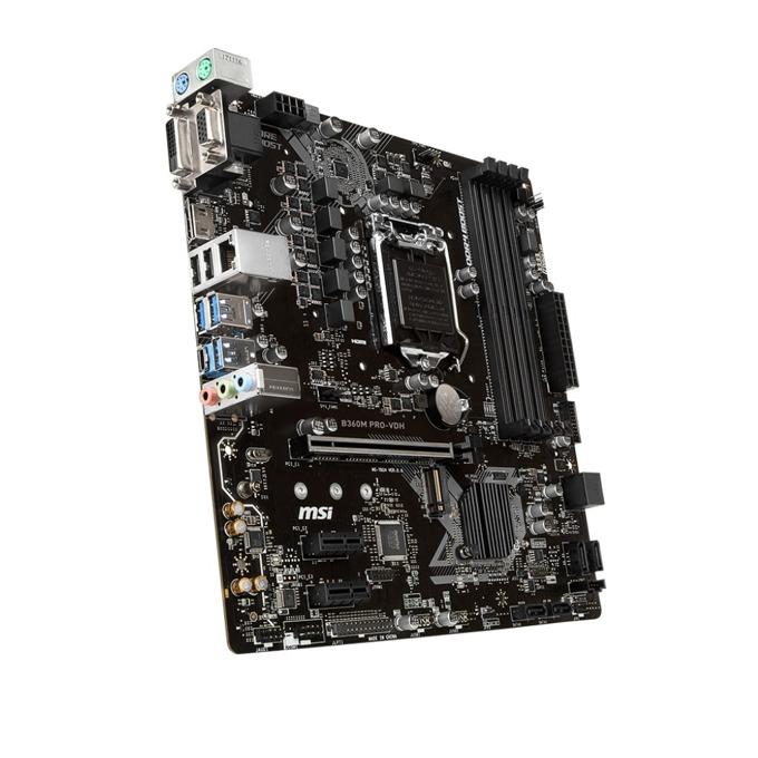 Дънна платка MSI B360M PRO-VDH, B360, LGA1151, DDR4, PCI-E(HDMI/DVI/VGA D-Sub), 6x SATA3, 1 x USB 3.1 Gen 1 (Type-C), 1 x M.2 connector, Micro-ATX image