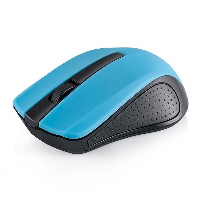 Мишка Modecom MC-WM9, оптична (1600 dpi), безжична, обхват до 10м, USB, синя image