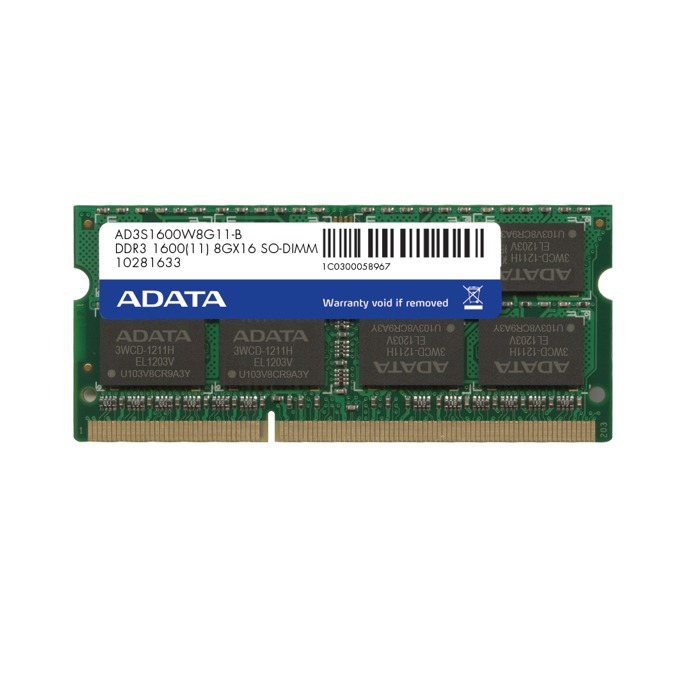 8GB DDR3 1600MHz SO-Dimm, A-Data Premier Series image