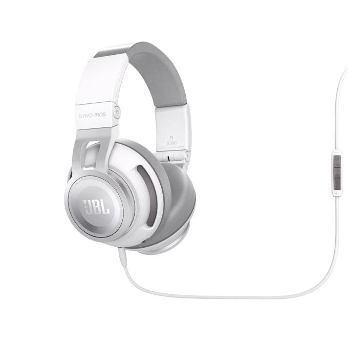 Слушалки JBL Synchros S500, микрофон, бели image