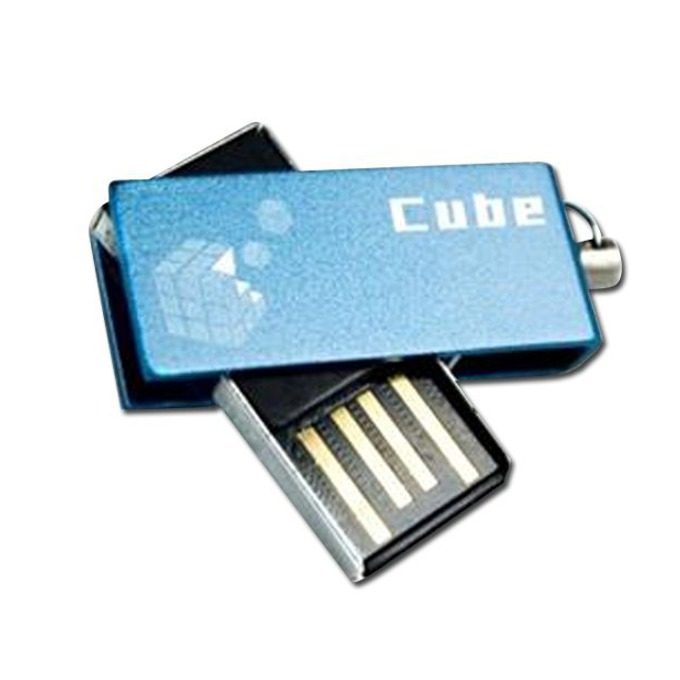 16GB USB Flash Drive, Goodram Cube, USB 2.0, синя image