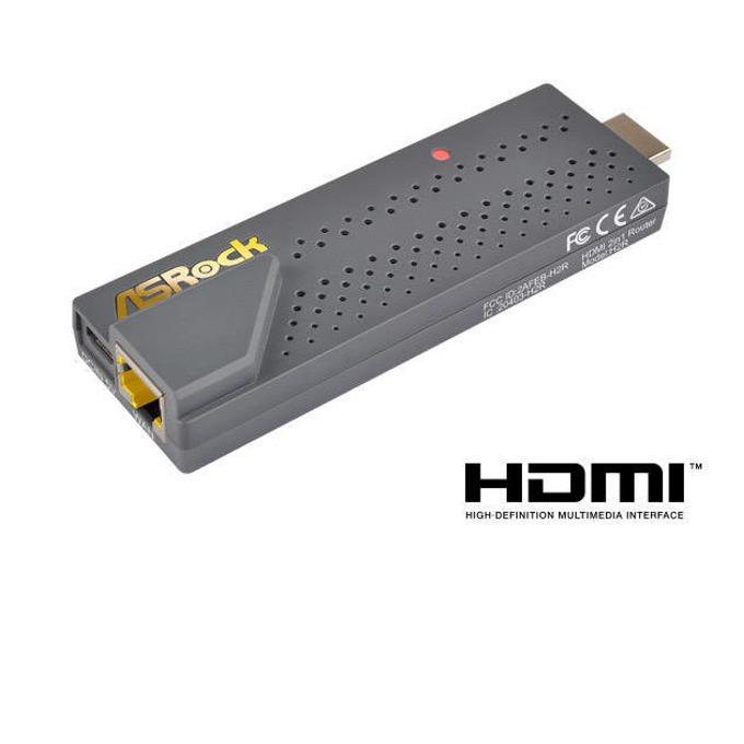 Рутер AsRock H2R 2-IN-1 ROUTER, преносим, 300Mbps, 2.4GHz (300Mbps), Wireless N, 1x WAN 10/100, 2 x internal High Performance Antennas, Miracast / EZplay / DLNA image