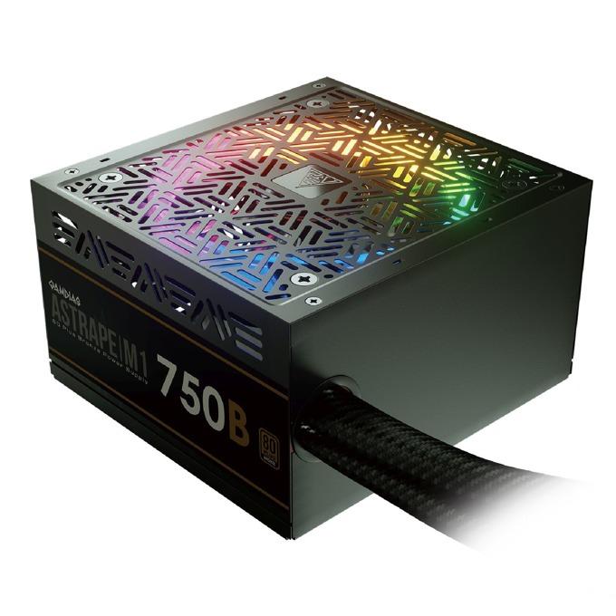 Захранване Gamdias ASTRAPE M1-750W, 750W, Active PFC, 80 Plus, 120mm вентилатор, RGB подсветка image