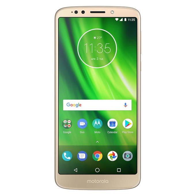 "Motorola G6 Play (златист), поддържа 2 sim карти, 5.7"" (14.48 cm) IPS HD+ дисплей, осемядрен Qualcomm Snapdragon 430 1.4GHz, 3GB RAM, 32GB Flash памет (+ microSD слот), 13 MPix & 8 MPix камера, Android, 175g image"