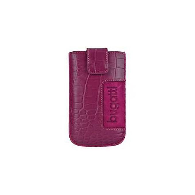 Калъф за Apple iPhone 5/5C/5S, джоб, естествена кожа, Bugatti Croco Leather ML, розов image
