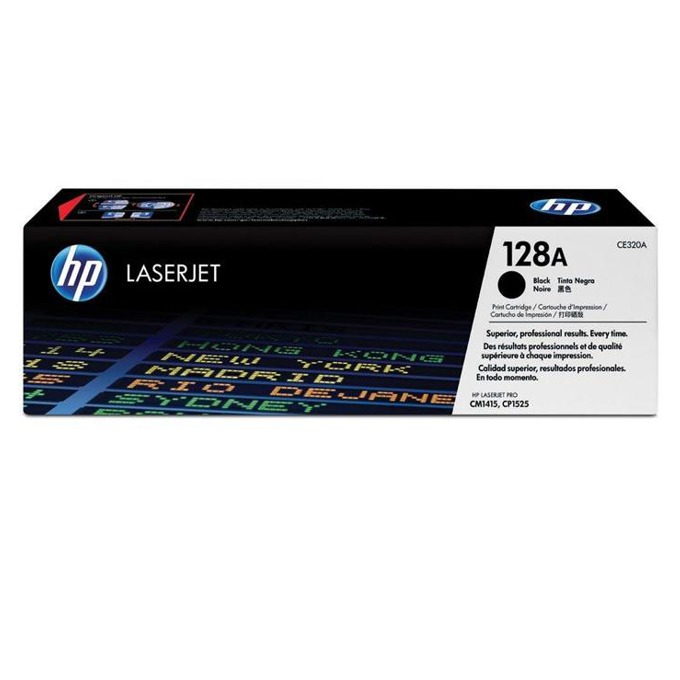 КАСЕТА ЗА HP COLOR LASER JET CM1415/CP1525/HP128A Print Cartridge - Black - P№ CE320A - заб.: 2000k image