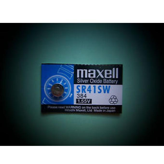 Батерия сребърна Maxell SR, SR41SW, 1.55V, 1 бр. image