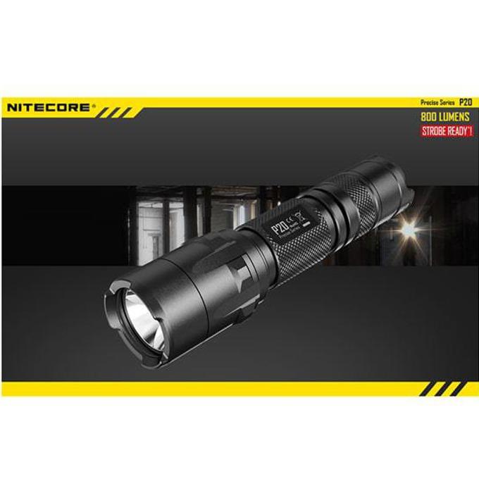 Фенер Nitecore P20, 1x 18650/ 2x CR123A батерии, 800 lumens, удароустойчив, водонепропускливост, за открито, черен image