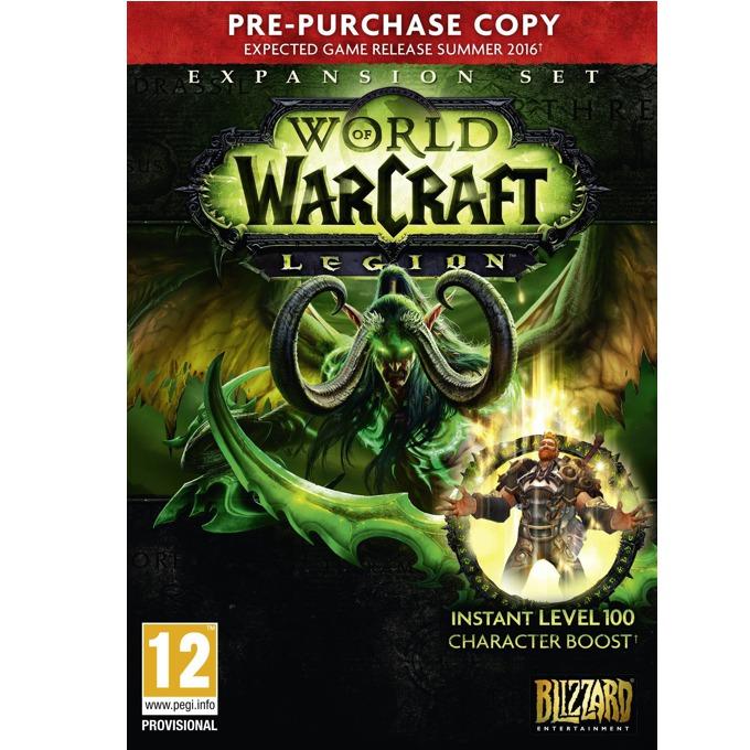 World of WarCraft: Legion, Предварително закупуване, Level 100 Character Boost, за PC image
