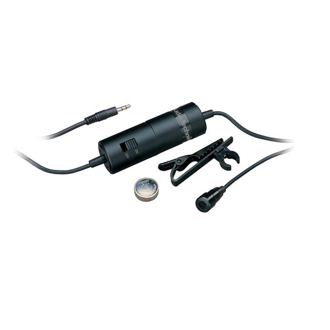 "Микрофон Audio-Technica ATR3350, тип ""брошка"", кондензаторен, 50-18kHz, LR 44 батерия image"