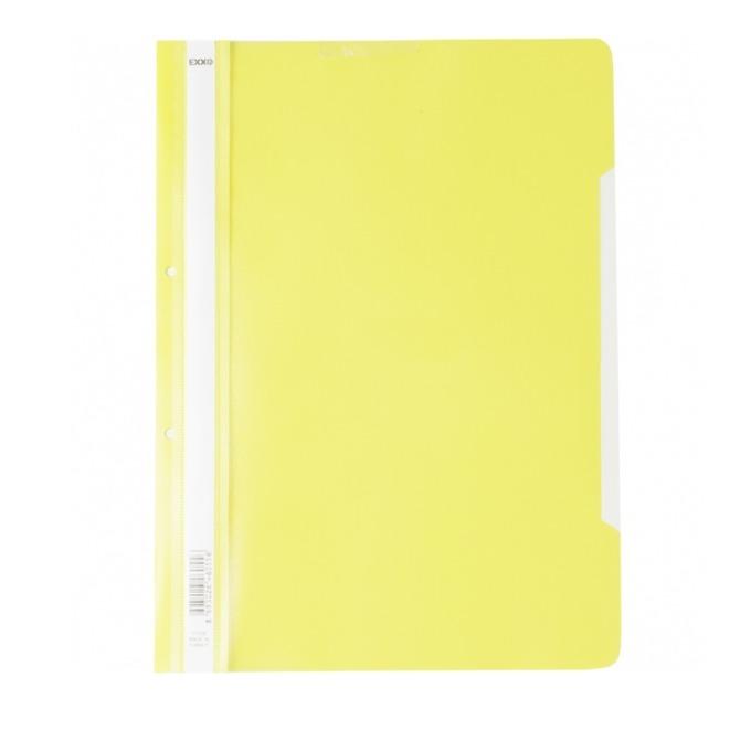 Папка PVC перфорация Lux жълта