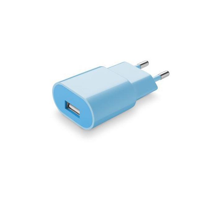 Зарядно устройство /универсално/ Cellular Line, 1A, USB A(ж), за мобилни устройства, синьо image