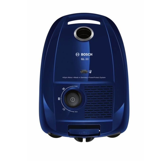 Прахосмукачка Bosch BGL3B110, с торба, 650 W, 4 л. капацитет на торбата, енергиен клас B, PowerProtect система, синя image