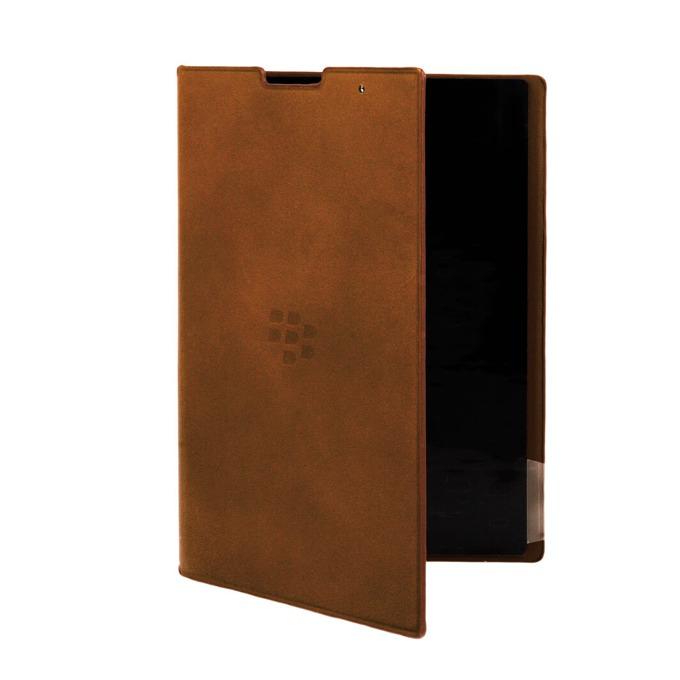 Калъф за Blackberry, отваряем, еко кожа, Blackberry Leather Flip Cover, кафяв image