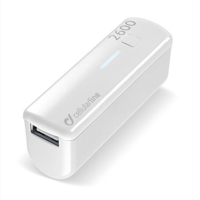 Външна батерия/power bank/ Cellular Line, 2600mA, бяла, 1x USB image