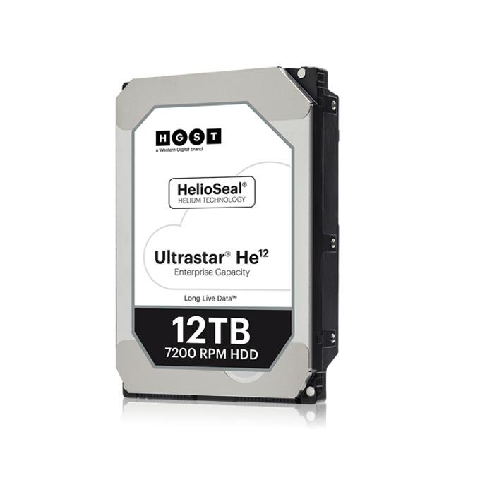 """Твърд диск 12TB HGST Ultrastar He12 HUH721212ALE600, SATA 6Gb/s, 7200 rpm, 256MB кеш, 512e sector size(ISE), 3.5"""" (8.89cm) image"""