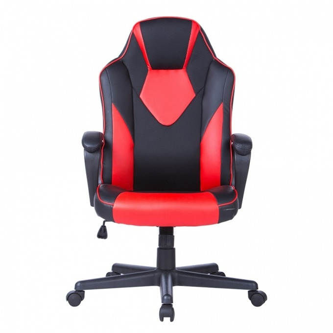 Геймърски стол Storm, еко кожа, ергономична форма, черен/червен image