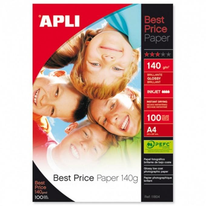 Apli Best Price, Гланцирана, A4,140 g/m, 100л. product