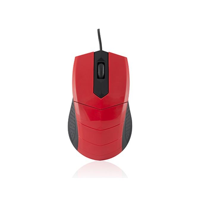 Мишка Logic, LM-13, оптична (1000 dpi), черно/червено image