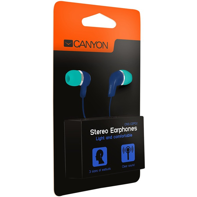 Слушалки Canyon CNS-CEPM02GBL, зелено-сини image