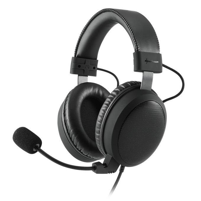 Слушалки Sharkoon B1, микрофон, 20Hz-20 000Hz, 103 dB ± 3 dB, черни image