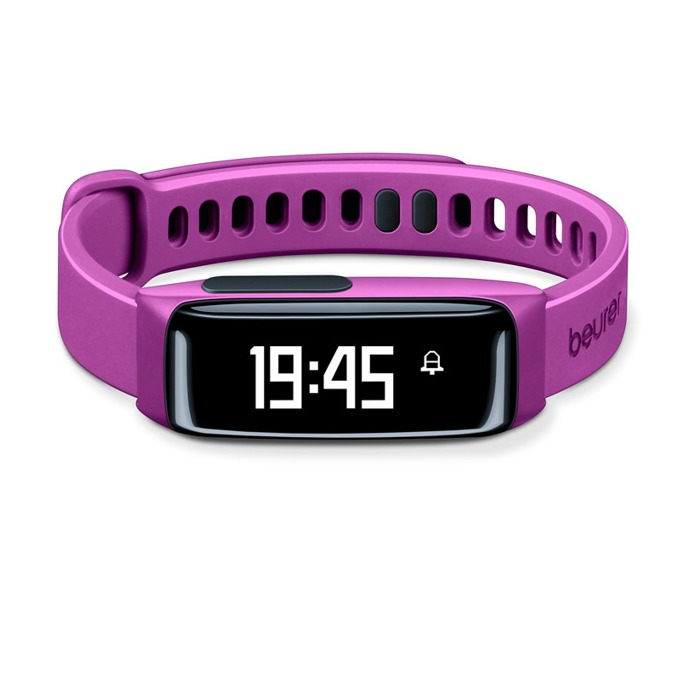 Фитнес гривна Beurer AS81 BodyShape, Bluetooth, сензор : крачки, изгорени калории, IPX4, лилава image