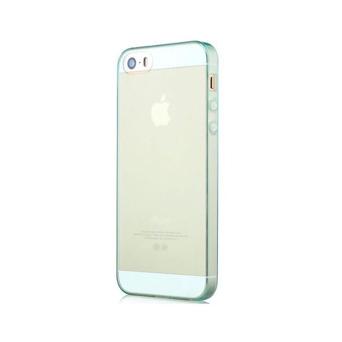 Силиконов протектор Devia за Apple iPhone 5, iPhone 5S и iPhone SE, син image