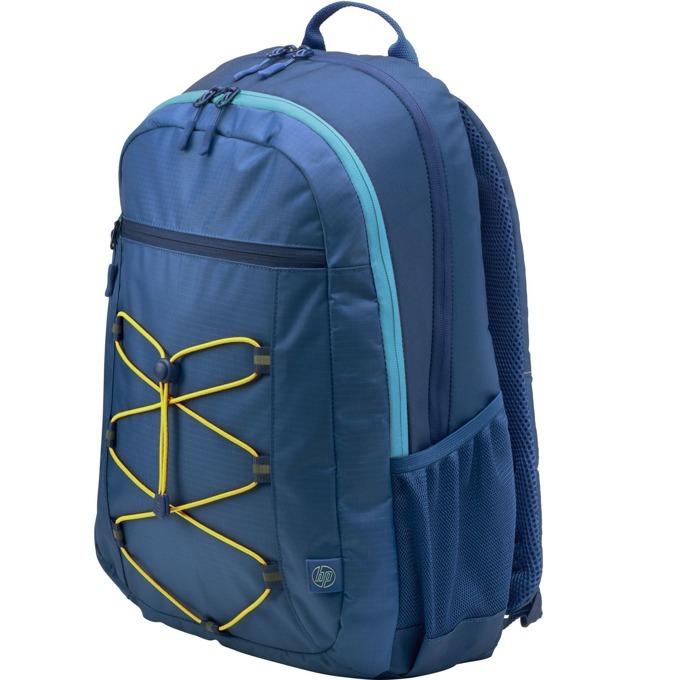 "Раница за лаптоп HP Active Backpack 1LU24AA, до 15.6"" (39.60cm), водоустойчива, синя image"
