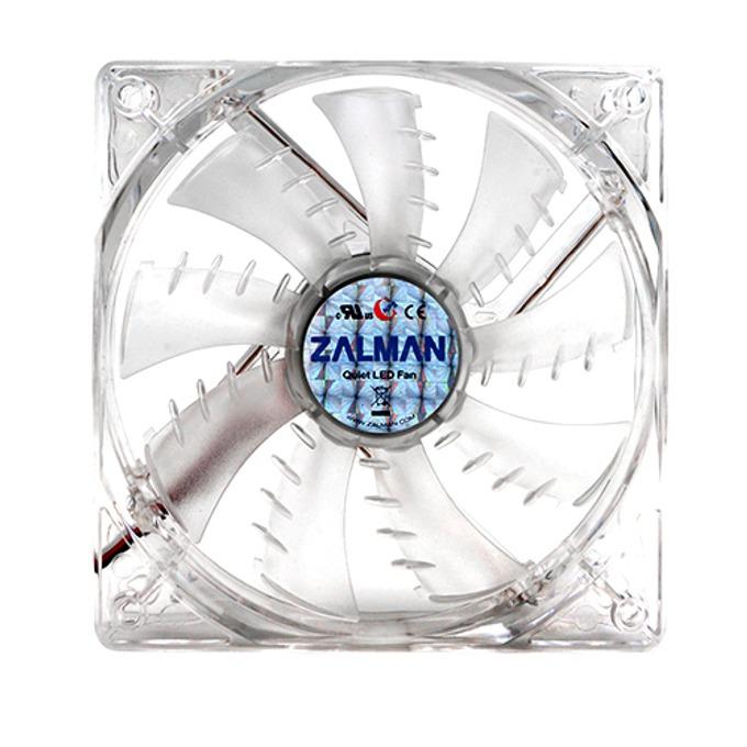 Вентилатор 80mm Zalman M-F1 LED (SF), 3-pin, 2000 rpm, синя LED подсветка image