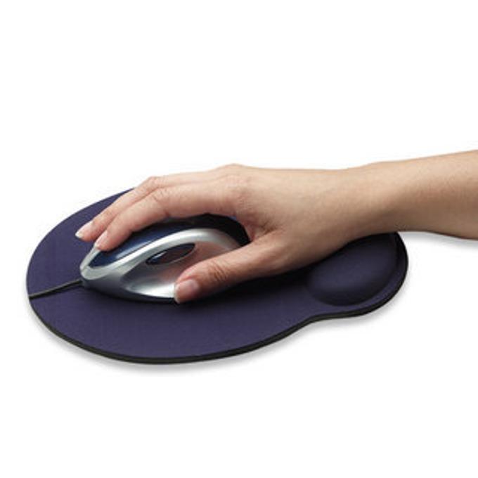Подложка за мишка MANHATTAN Wrist rest, синя, 24.1 x 20.3 x 0.4 cm image